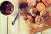 Homemade mini donuts — Stock Photo