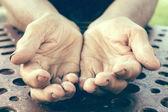 Empty hands — Stock Photo