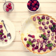 Homemade tart with strawberries — Stock Photo #48821917