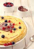 Juicy pancakes — Stock Photo