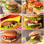 Beef and fish burgers — Foto Stock