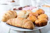 Golden croissants — Stock Photo