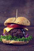 Juicy burger — Stock Photo
