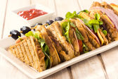 Sandwiches in plate — Stock Photo