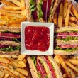 Sandwiches and french fries — Stock Photo #50008637