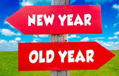 New and old year — Stock Photo