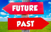 Future and past — Stock Photo