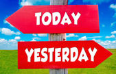 Today and yesterday — Stock Photo