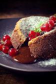 Sweet lava cake — Stock Photo