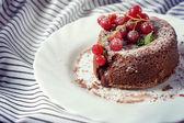 Chocolate pudding cake — Stock Photo