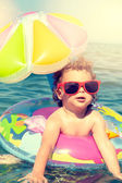 Child enjoy in the summer time — Stockfoto