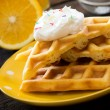 Постер, плакат: Waffles in the plate