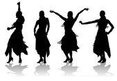 Oriental dance — Stock Vector