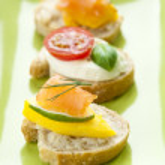 Bruschetta Appetizers — Stock Photo