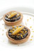 Mini Chocolate Tart — Stock Photo