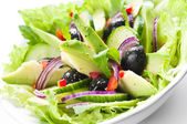 Salad with Avocado — Stock Photo