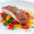 Salmon with vegetables — Stock Photo #19133231