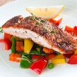 Salmon with vegetables — Stock Photo #19133245