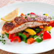 Salmon with vegetables — Stock Photo #19133247