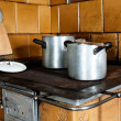 Stock Photo: Old-fashioned Kitchen Stove
