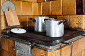 Old-fashioned Kitchen Stove — Stock Photo