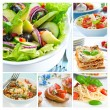 Mediterranean Food Collage — Stock Photo