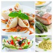 Mediterranean Food Collage — Stockfoto