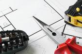 Budowa planu narzędzia — Zdjęcie stockowe