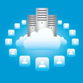 Cloud Networking — Stock Vector
