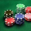 Casino 6 of chips - Stock Photo