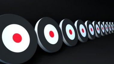 Rode punt doelstellingen — Stockvideo