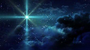 Sea blue pf Starry Night — Stock Video