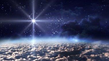 Nice space starry night — Stock Video