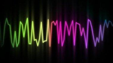 Audio wave line — Stock Video