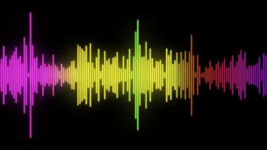 Color equalize of Audio wave line — Stock Video