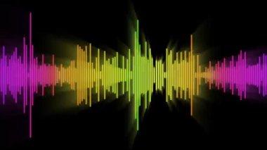 Farbe audio wave linie — Stockvideo