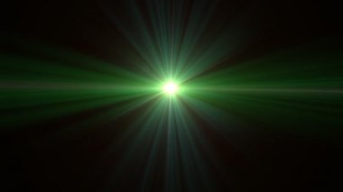 Green glow len flares expose — Stock Video