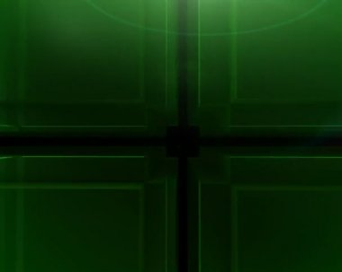Green Cube background — Stock Video