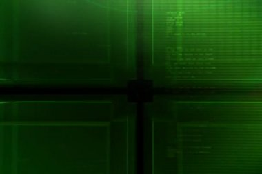 Green Cube background ntsc — Stock Video