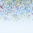 Stock Video: Color Paper Confetti Falling loop