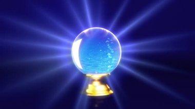 Morze w kryształowej kuli przyszłości — Wideo stockowe