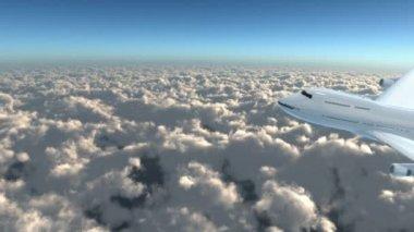 Jet flying in the sky — Stock Video