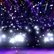 Stock Video: Concert light and confetti
