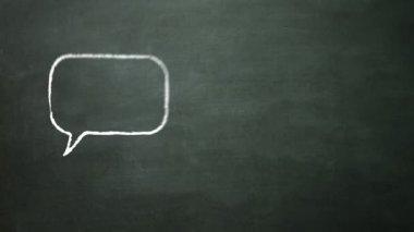 Sett ikonen på blackboard — Stockvideo