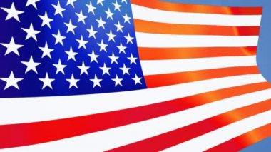 USA flag close up — Stock Video