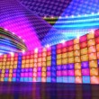 Disco stage virtual set background repeat loap — Stock Video