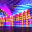 Disco stage virtual set background HD — Stock Video