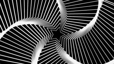 Gwiazda promieniowania biały — Wideo stockowe