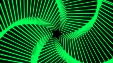 Rayonnement étoile verte — Vidéo