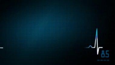 EKG monitor male graphic — Stock Video